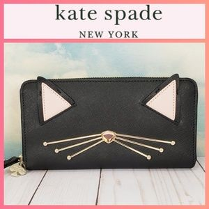Kate Spade Jazz Things Up Neda Cat Wallet